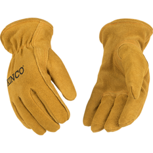 Tough suede vintage children's gloves