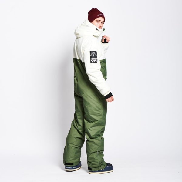 One Piece skisuit Oneskee olive white