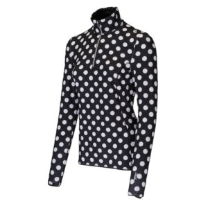 Falcon anti sweat pullover Idylle black with dots