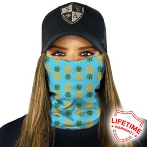 Wintersport Bandana Pineapple Turquoise