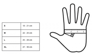 Size chart motorcycle gloves