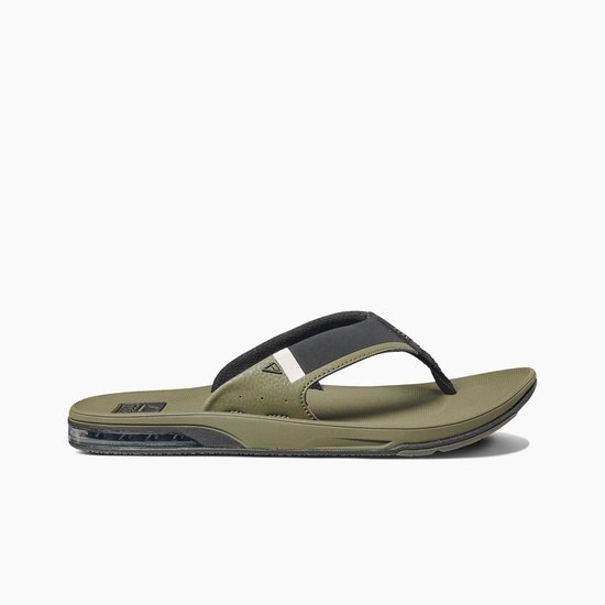Reef slipper heren Olive met fles opener Fanning Low