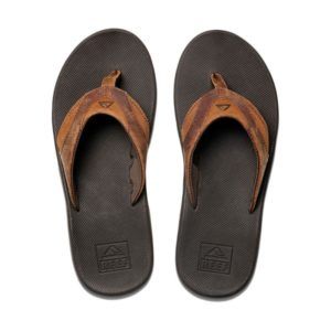 Reef Leather Fanning heren slipper met fles opener