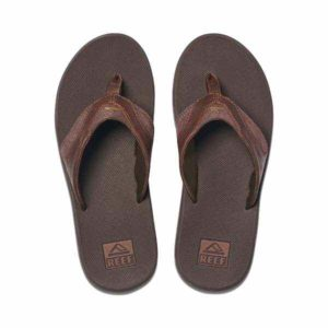 Reef Leather Fanning slipper heren Dark Brown